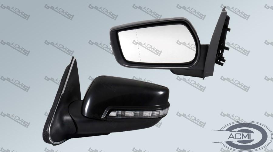 آینه جانبی پژو پارس راهنمادار سوکت جدید (فلاپ خام)